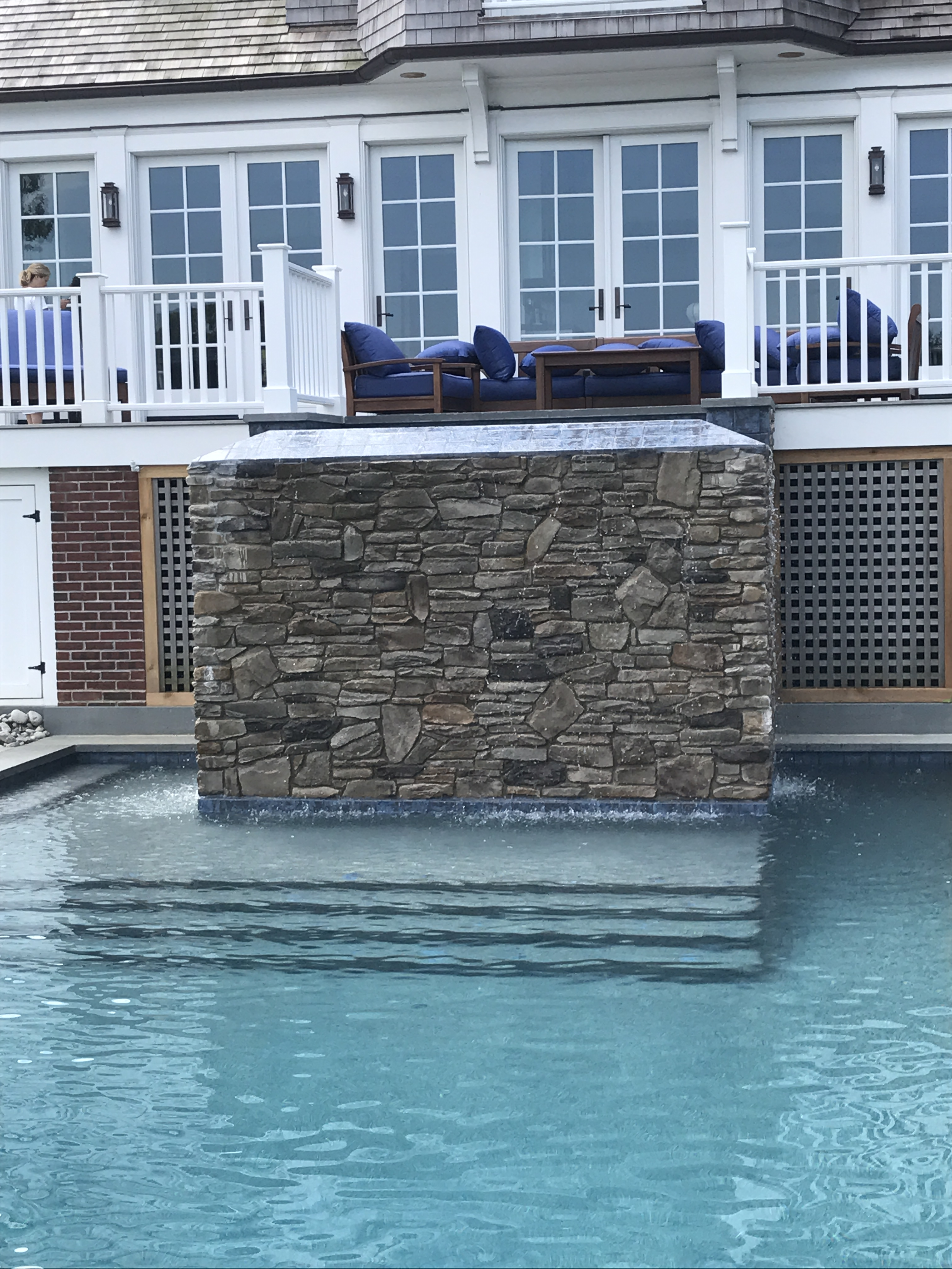 Water Features Pool Fountains Slides Designs
